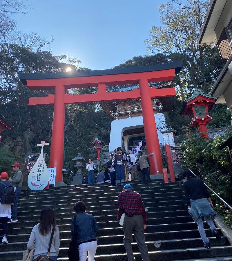 ⑫そのまままっすぐいくと江島神社