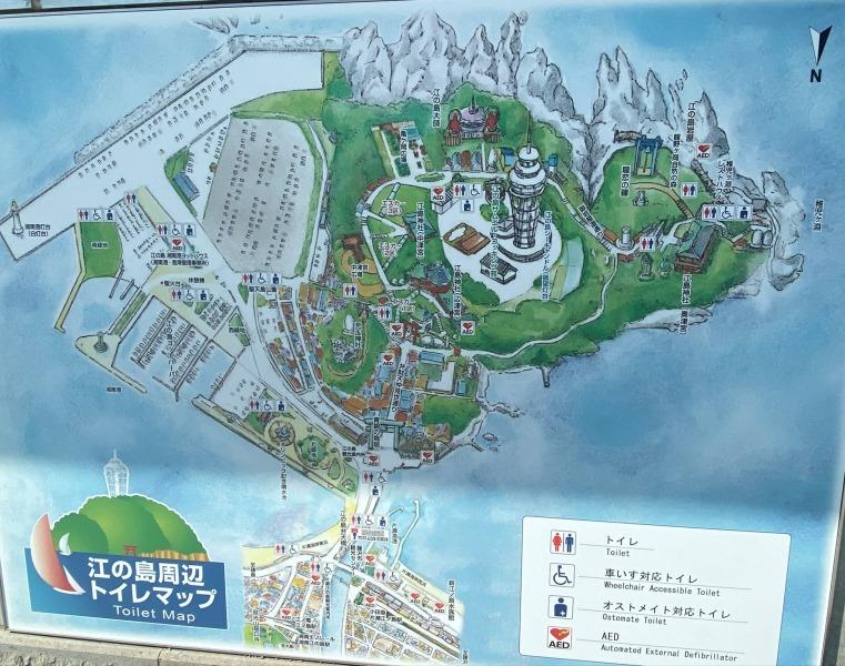 ➅江ノ島のマップ