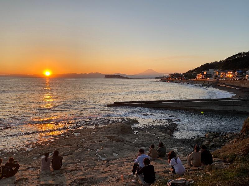 117_富士山と江ノ島とサンセットの3セット…