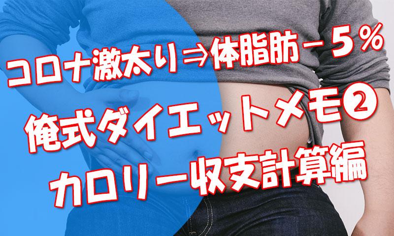 1か月で体脂肪率-5%!俺式ダイエットメモ➁【カロリー収支という考え方】