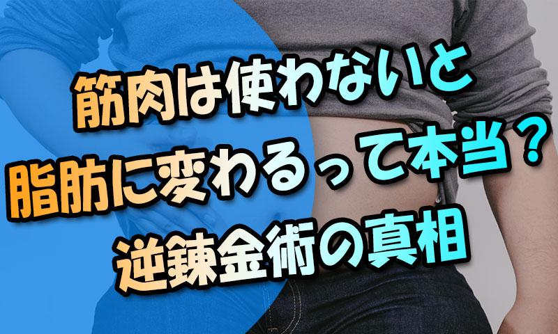 筋肉は放置すると脂肪に変わるってホント?都市伝説的な逆錬金術の真相