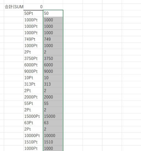 SUBSTITUTE関数で置き換える実例_無事Ptを除去できた
